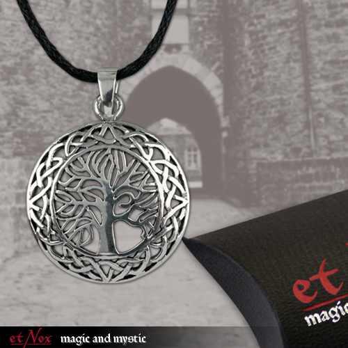 EN 5503 Lebensbaum mit Umrandung eines keltischem Knotenmuster von etNOX 925er Silber
